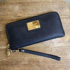 Michael Kors Saffiano Leather Zip Wallet